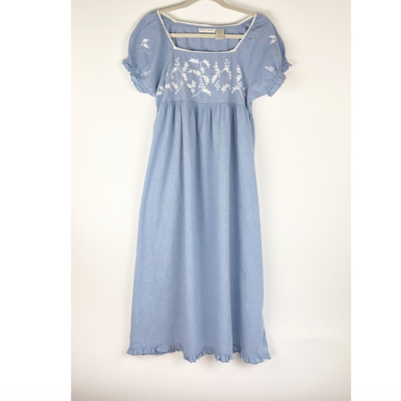 Blue Gilligan O/'Malley Nightgown Vintage Lingerie Size Small